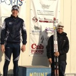 Wynn Roberts and Raleigh Goessling on the podium for yesterday's sprint race
